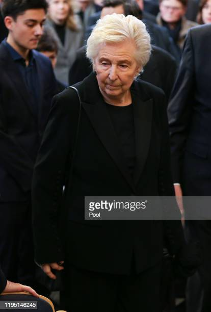 Ingrid Stolpe attends a memorial service for recently deceased Manfred Stolpe at the Nicholas Church on January 21 2020 in Potsdam Germany Stolpe...