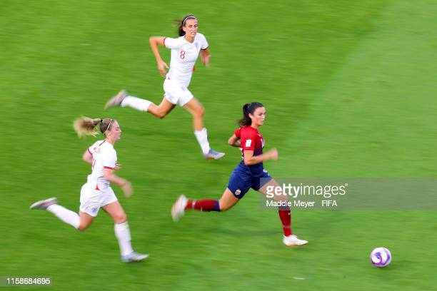 Ingrid Syrstad Engen of Norway runs with the ball during the 2019 FIFA Women's World Cup France Quarter Final match between Norway and England at...