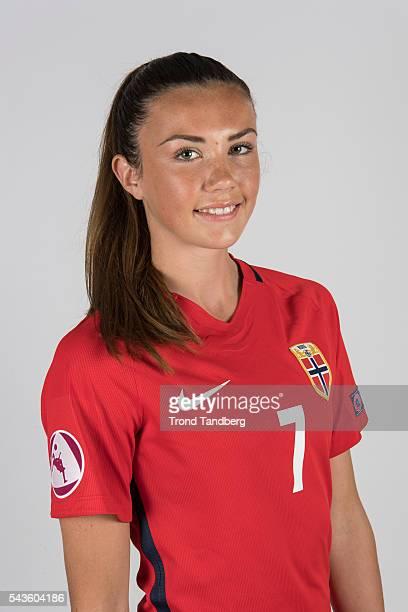Ingrid Systad Engen of Norway Norwegian Woman U19 Training Camp on June 21 2016 in Lillestrom Norway