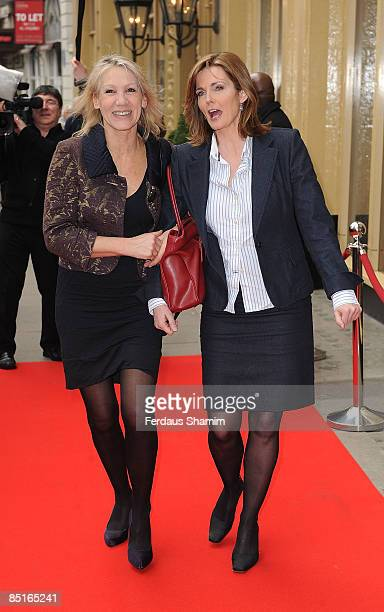 Ingrid Tarrant and Annabel Giles attend the Tesco Magazine Mum Of The Year Awards at Waldorf Hilton Hotel on March 1 2009 in London England