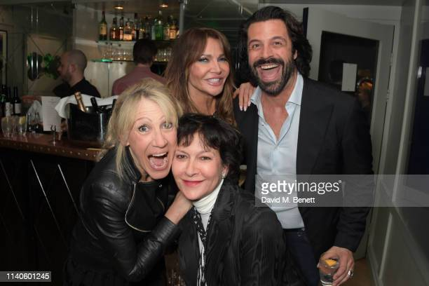 Ingrid Tarrant Rosann Benett Lizzie Cundy and Christian Vit attend the launch of Jo Wood's new podcast Alien Nation With Jo Wood at The Groucho Club...