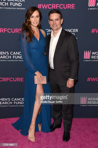Ingrid Vandebosch and Jeff Gordan attend The Women's Cancer Research Fund's An Unforgettable Evening 2020 at Beverly Wilshire A Four Seasons Hotel on...
