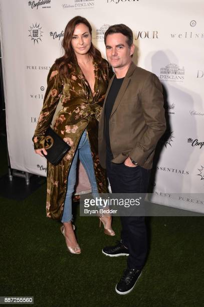 Ingrid Vandebosch and Jeff Gordon attend DuJour's Jason Binn And WellNEST Celebrate Miami Beach's Art Basel KickOff at The Confidante on December 6...