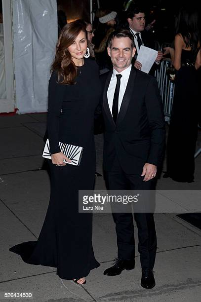 Ingrid Vandebosch and Jeff Gordon attend the '2016 amfAR' New York Gala outside arrivals at Cipriani Wall Street in New York City �� LAN