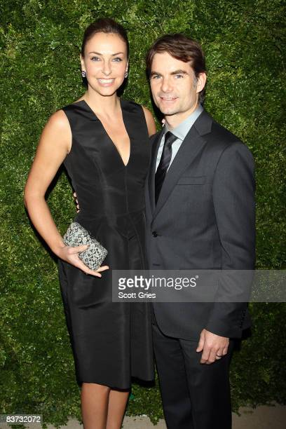 Ingrid Vandebosch and Jeff Gordon attend the 5th Anniversary of the CFDA/Vogue Fashion Fund at Skylight Studios on November 17, 2008 in New York City.