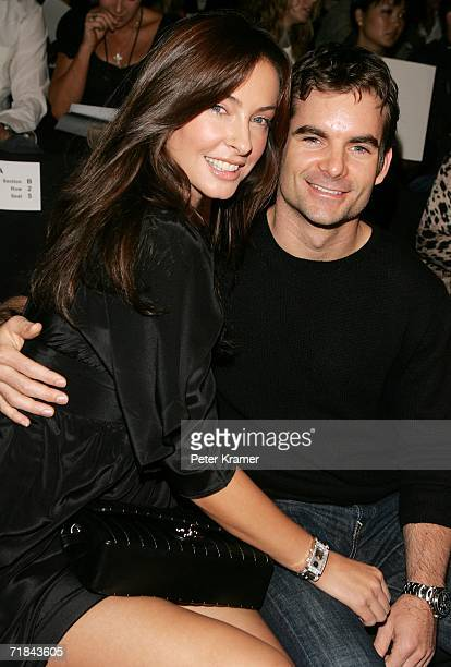 Ingrid Vandebosch and Jeff Gordon attend the Rosa Cha Spring 2007 fashion show during Olympus Fashion Week at the Tent September 10 2006 in New York...