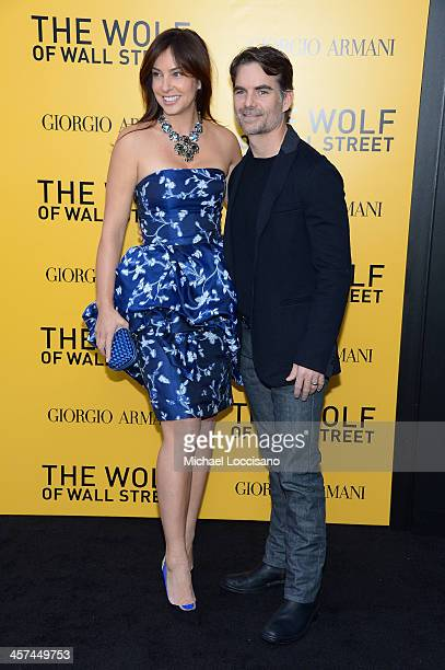 Ingrid Vandebosch and Jeff Gordon attend the The Wolf Of Wall Street premiere at the Ziegfeld Theatre on December 17 2013 in New York City
