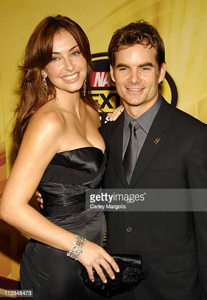 Ingrid Vandebosch and Jeff Gordon during 2006 NASCAR NEXTEL Cup Series Awards Ceremony at Waldorf Astoria in New York City New York United States