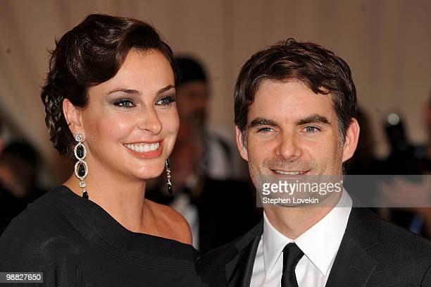 Ingrid Vandebosch and NASCAR driver Jeff Gordon attend the Costume Institute Gala Benefit to celebrate the opening of the American Woman Fashioning a...