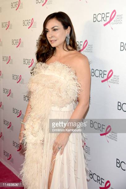 Ingrid Vandebosch attends the Hot Pink Party hosted by the Breast Cancer Research Foundation at Park Avenue Armory on May 15, 2019 in New York City.
