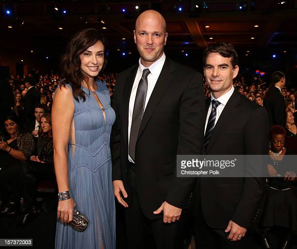 Ingrid Vandebosch honoree Scott Strode of Phoenix Multisport and professional racecar driver Jeff Gordon attend the CNN Heroes An All Star Tribute at...