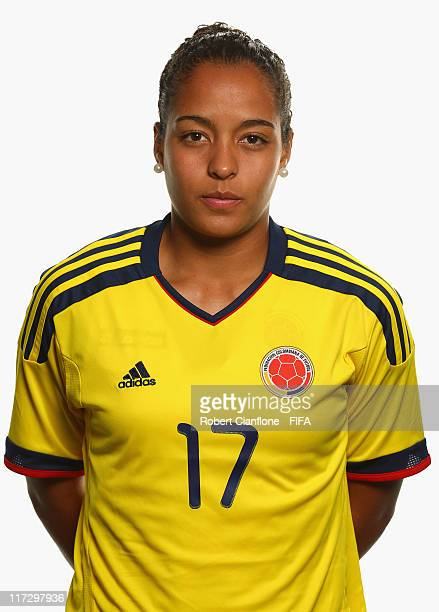 Ingrid Vidal of Colombia during the FIFA portrait session on June 25 2011 in Cologne Germany