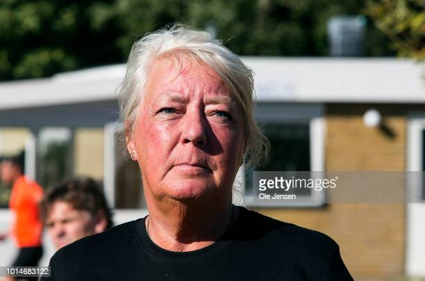 Ingrid Wall mother to the murdered Swedish journalist Kim Wall during the commemoration marathon for her daughter in her home village on August 10...