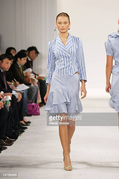 Inguna Butane wearing Ralph Lauren Spring 2006 at the The Annex in New York City, New York