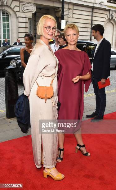 Ingunn Beate Oyen and Lise Risom Olsen attend a special screening of 'The Innocents' at The Curzon Mayfair on August 20 2018 in London England