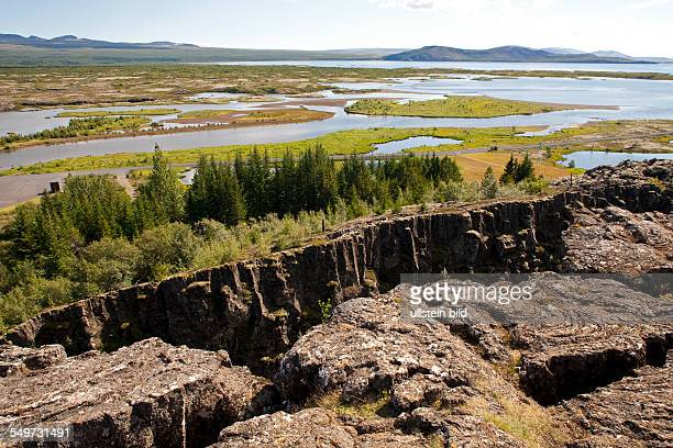 Þingvellir area is part of a fissure zone running through Iceland being situated on the tectonic plate boundaries of the MidAtlantic Ridge...