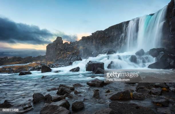 þingvellir falls - thingvellir stock photos and pictures