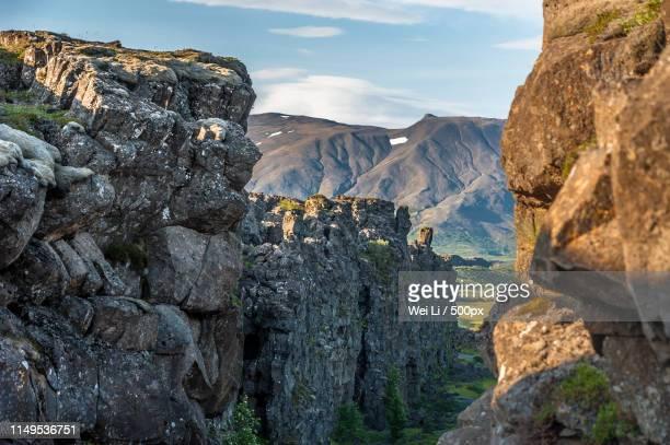 ingvellir - thingvellir national park stock photos and pictures