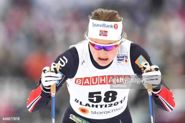 Ingvild Flugstad Oestberg from Norway during Ladies crosscountry 100km Individual Classic final at FIS Nordic World Ski Championship 2017 in Lahti On...
