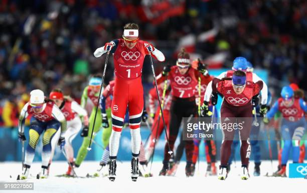 Ingvild Flugstad Oestberg of Norway competes during the Ladies' 4x5km Relay on day eight of the PyeongChang 2018 Winter Olympic Games at Alpensia...