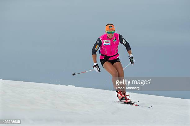 Ingvild Flugstad Oestberg of Norway during CrossCountry training session at Sognefjellet on June 4 2014 in Lom Norway