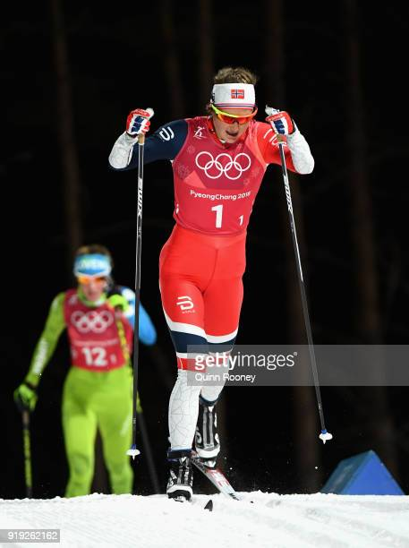 Ingvild Flugstad Oestberg of Norway during the Ladies' 4x5km Relay on day eight of the PyeongChang 2018 Winter Olympic Games at Alpensia CrossCountry...