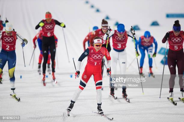 Ingvild Flugstad Oestberg of Norway during the Womens 4x5km Relay CrossCountry Skiing on day eight of the PyeongChang 2018 Winter Olympic Games at...