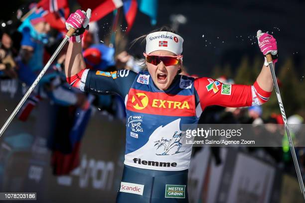 Ingvild Flugstad Oestberg of Norway takes 1st place during the FIS Nordic World Cup Men's and Women's Cross Country Final Climb on January 6 2019 in...
