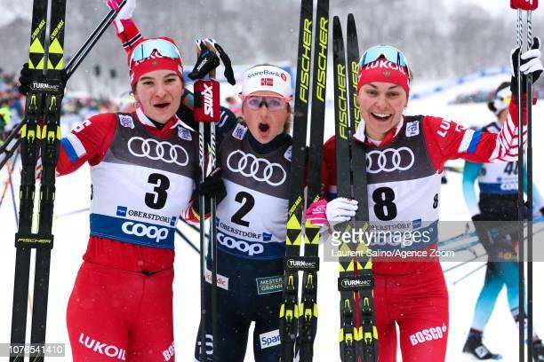 Ingvild Flugstad Oestberg of Norway takes joint 1st place Natalia Nepryaeva of Russia takes 2nd place Anastasia Sedova of Russia takes 3rd place...
