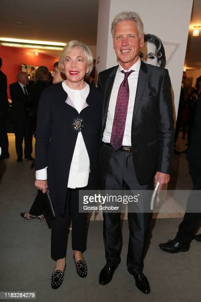 Ingvild Goetz and her husband Dr Stephan Goetz at the opera premiere of Die tote Stadt by Erich Wolfgang Korngold at Bayerische Staatsoper on...