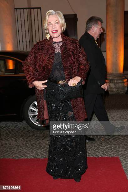 Ingvild Goetz during the 80th birthday party of Roland Berger at Cuvillies Theatre on November 25 2017 in Munich Germany