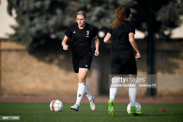 Ingvild Isaksen during a Juventus Women training session on October 26 2017 in Turin Italy