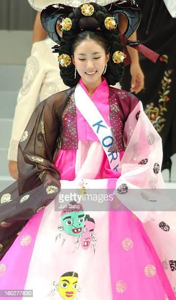 InHa Kim Miss Korea during Miss International Beauty Pagent 2004 Tokyo Preview at Tokyo Kosei Nenkin Kaikan in Tokyo Japan