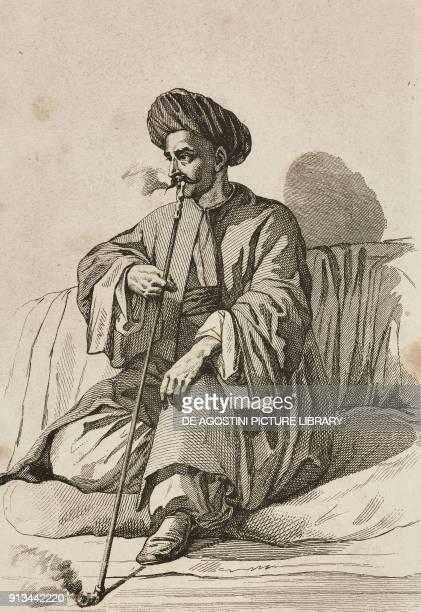 Inhabitant of Damascus Syria engraving by Traversier from Arabie by Noel Desvergers avec une carte de l'Arabie et note by Jomard L'Univers...