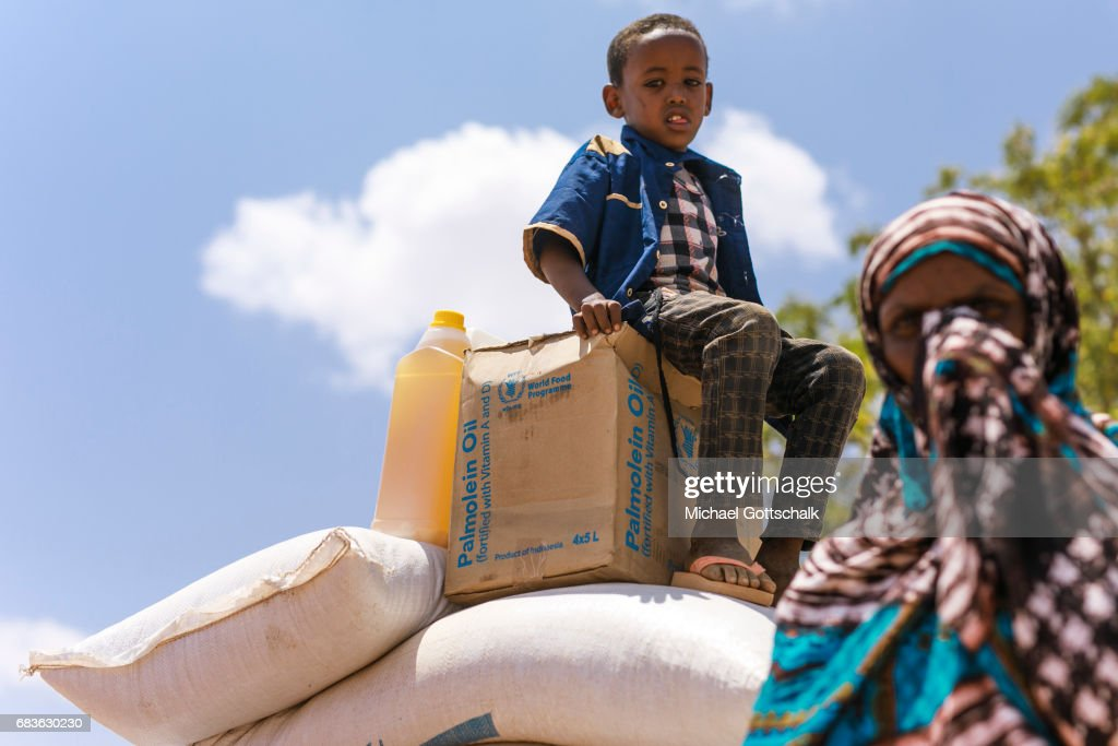 Inhabitants of a village in the Somali region in Ethiopia, where