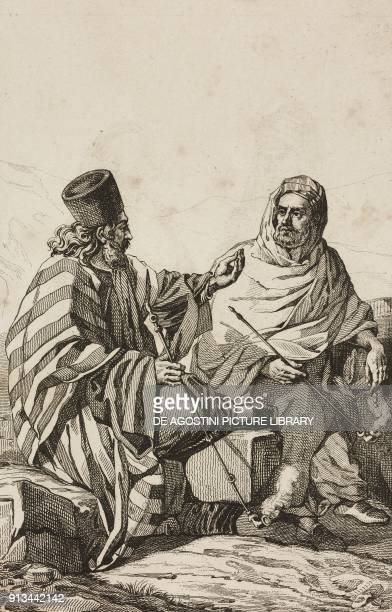 Inhabitants of Mount Sinai Egypt engraving by Lemaitre and Lebas from Arabie by Noel Desvergers avec une carte de l'Arabie et note by Jomard...
