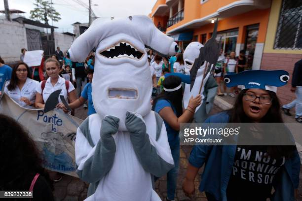 Inhabitants of Santa Cruz Island in Galapagos Ecuador took to the streets to protest against illegal fishing around the islands after this Monday...
