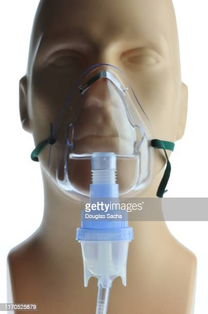 inhaler mask used for the treatment of asthma, cystic fibrosis, copd, and respiratory diseases - respiratory system stock pictures, royalty-free photos & images