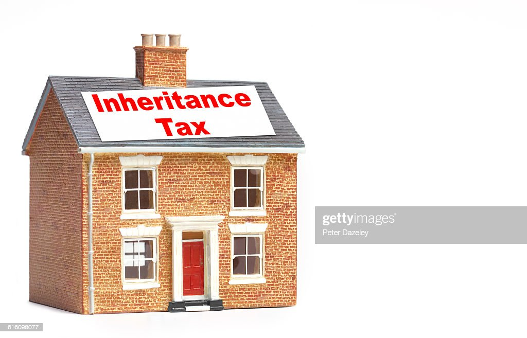 Inheritance Tax House Stock Photo