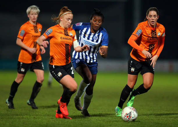 GBR: London Bees v Brighton and Hove Albion Women - FA Women's Continental League Cup