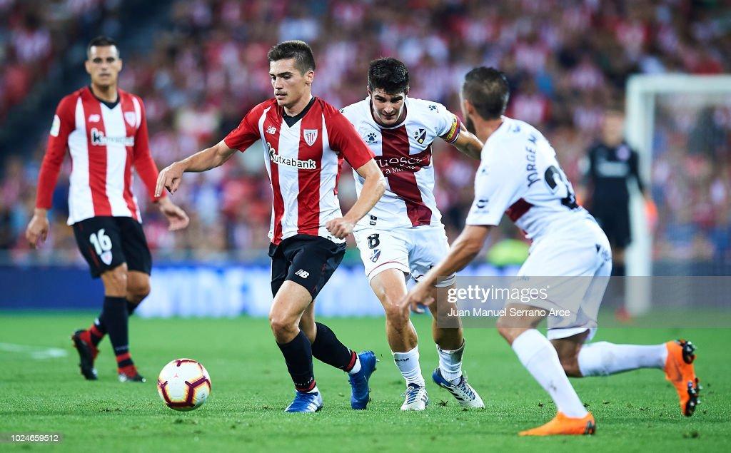 Inigo Cordoba of Athletic Club being followed by Gonzalo ...