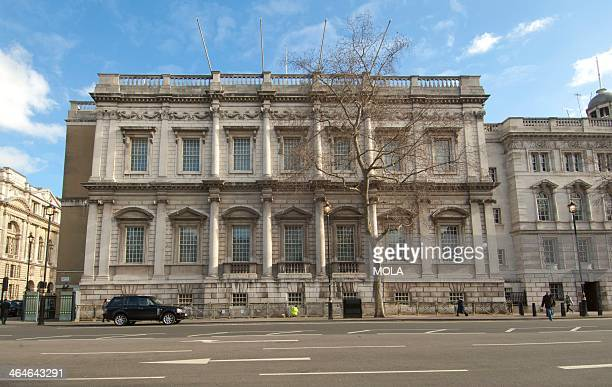 Inigo Jones's banqueting house, built in 1619, at Whitehall Palace, London.