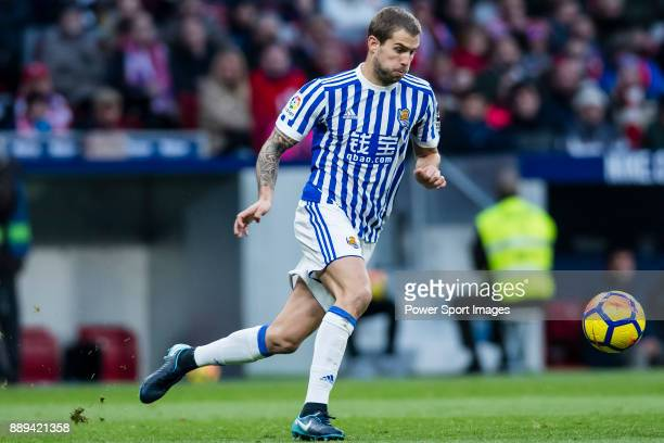 Inigo Martinez Berridi of Real Sociedad in action during the La Liga 201718 match between Atletico de Madrid and Real Sociedad at Wanda Metropolitano...