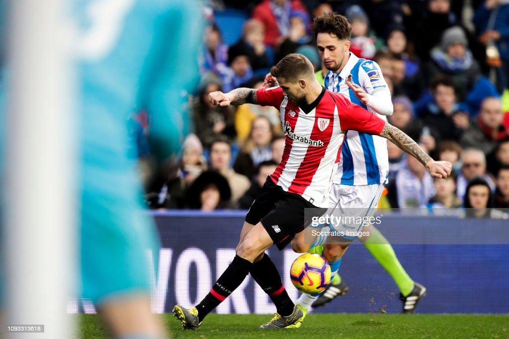 Inigo Martinez of Athletic Bilbao, Januzaj of Real ...