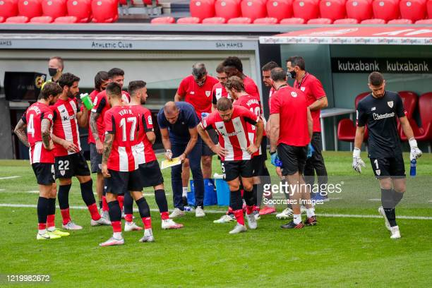 Inigo Martinez of Athletic Bilbao Raul Garcia of Athletic Bilbao Ander Capa of Athletic Bilbao Yuri of Athletic Bilbao Unai Lopez of Athletic Bilbao...