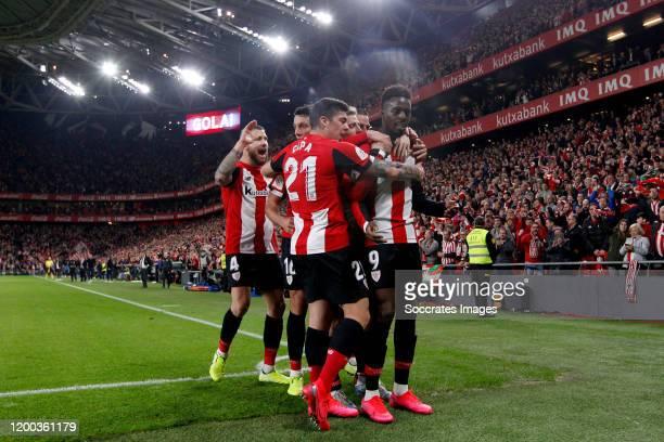 Inigo Martinez of Athletic Bilbao Vesga of Athletic Bilbao Ander Capa of Athletic Bilbao Inaki Williams of Athletic Bilbao celebrate goal during the...