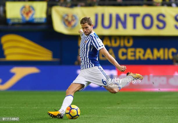 Inigo Martinez of Real Sociedad during the La Liga match between Villarreal CF and Levante Union Deportiva at Estadio de la Ceramica on January 26...