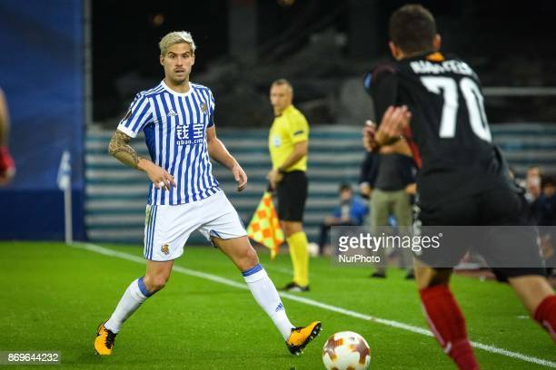 Inigo Martinez of Real Sociedad during the UEFA Europa League Group L football match between Real Sociedad and FK Vardar at the Anoeta Stadium on 2...