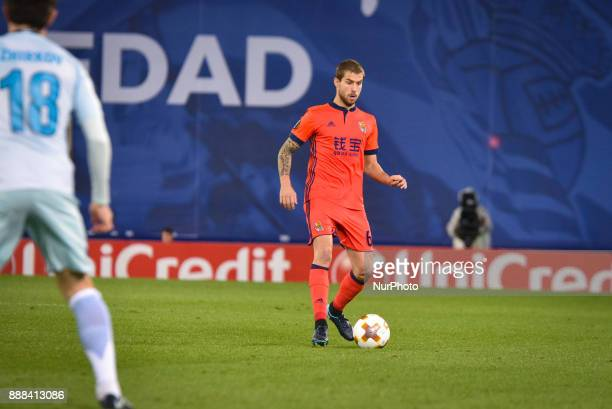 Inigo Martinez of Real Sociedad during the UEFA Europa League Group L football match between Real Sociedad and Zenit at the Anoeta Stadium on 7...