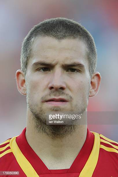 Inigo Martinez of Spain during the UEFA European U21 Championships Group B match between Spain and Russia at Teddy Stadium on June 6 2013 in...